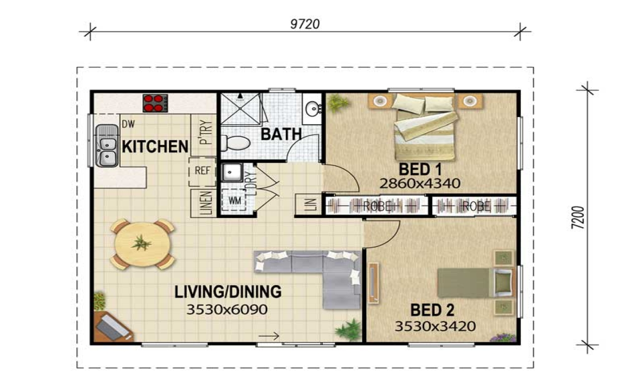 3 Bedroom Flat Floor Plan Granny Flat Plans Granny Flat