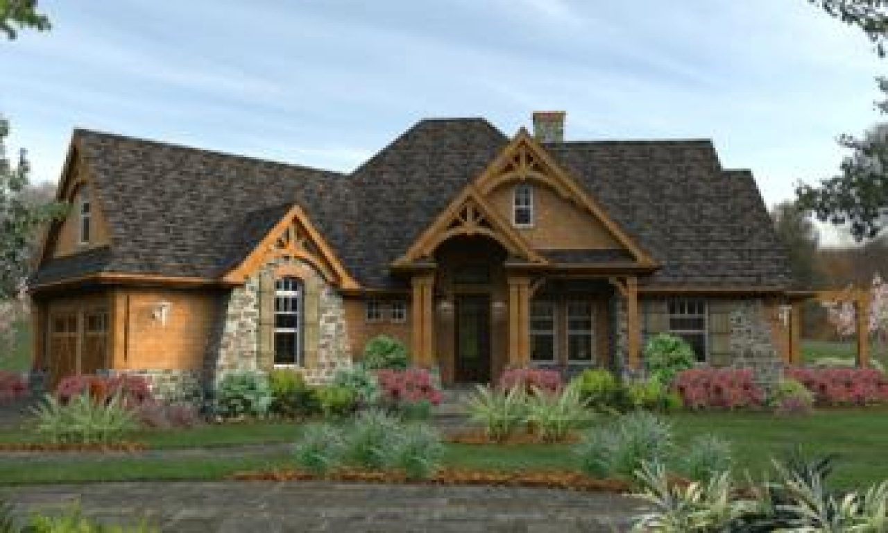 Craftsman house plans ranch style american craftsman house for Ranch style house plans with bonus room