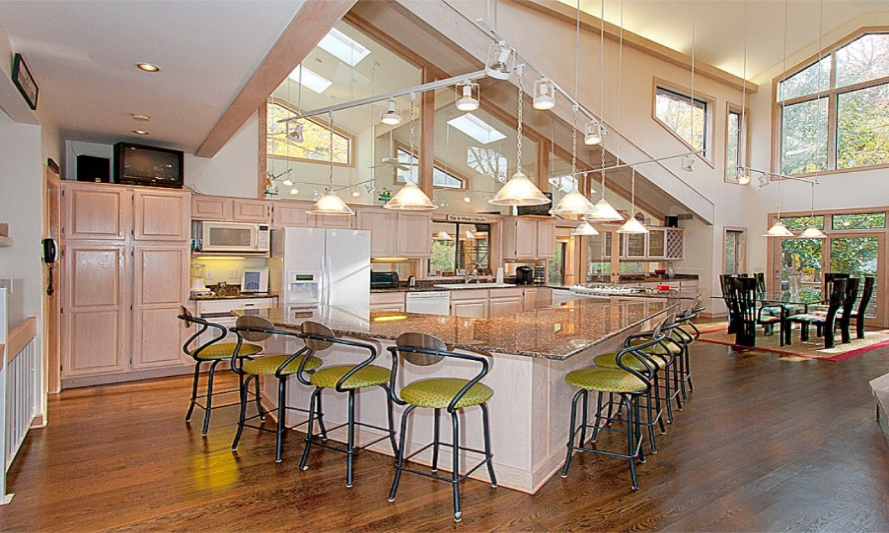 Kitchen with open floor plan open concept kitchen designs for Open floor plan kitchen designs