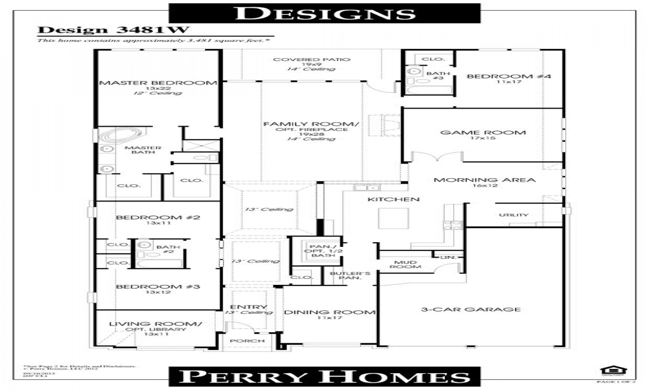 Open Floor Plans Small Home Perry Homes Floor Plans, Dream