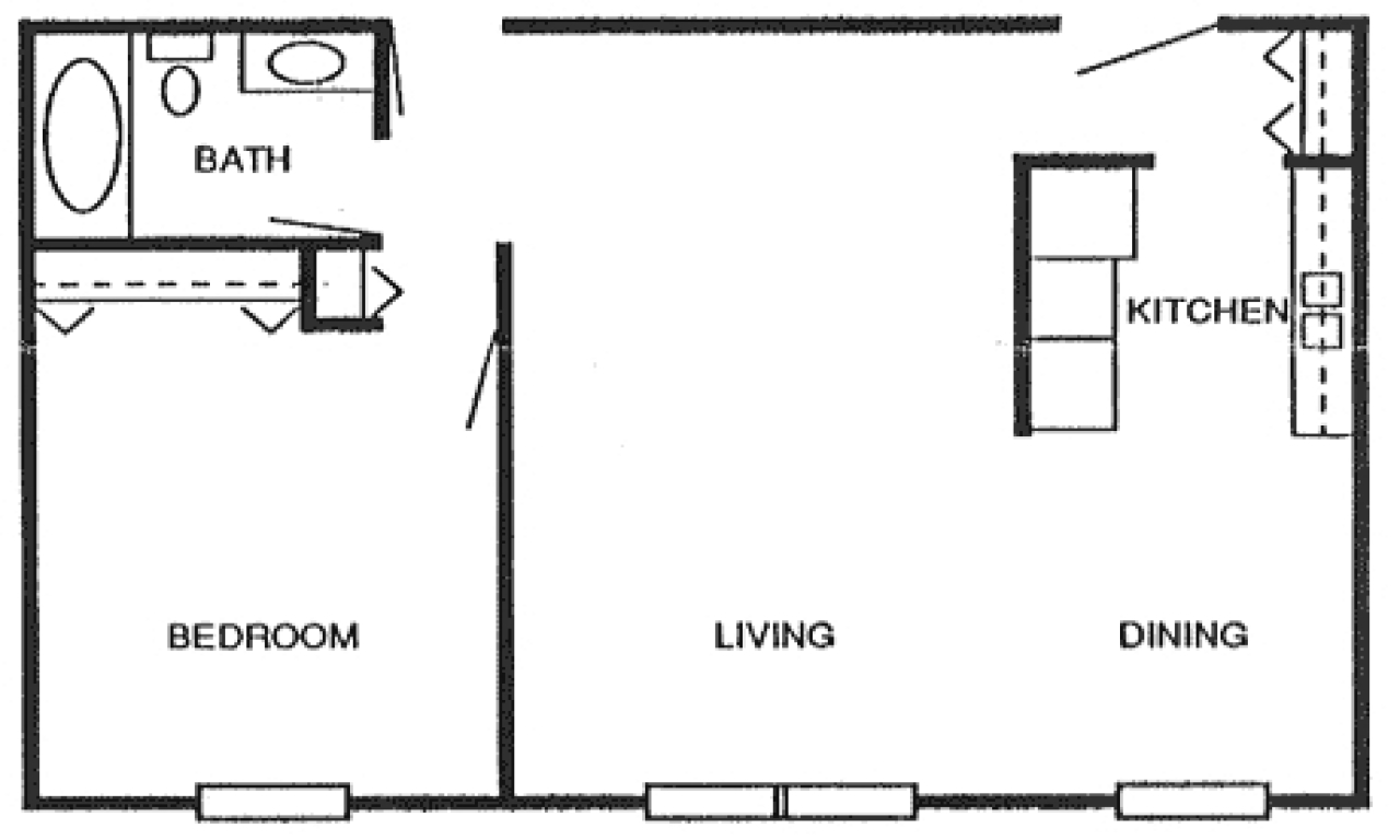 800 square foot studio 800 square foot apartment floor for 800 sq ft apartment floor plan