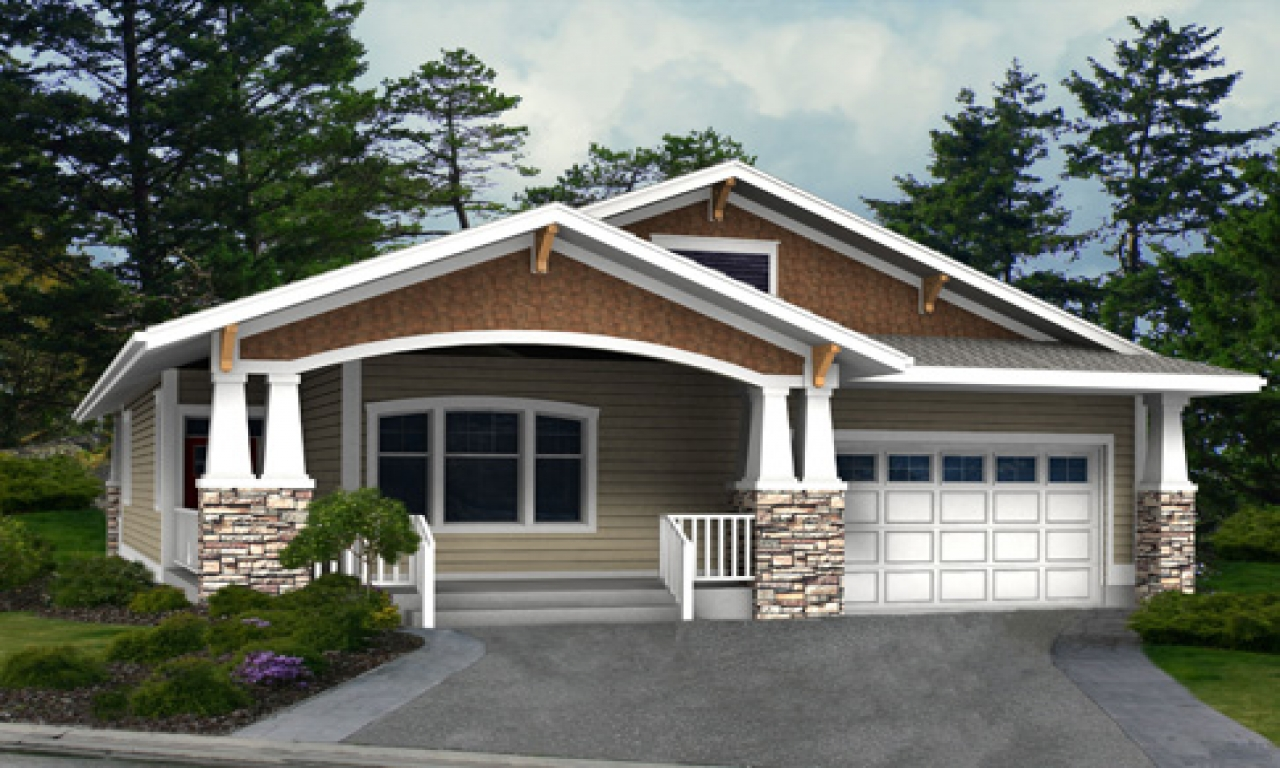 Craftsman house plans one level homes best craftsman house for Single level ranch homes