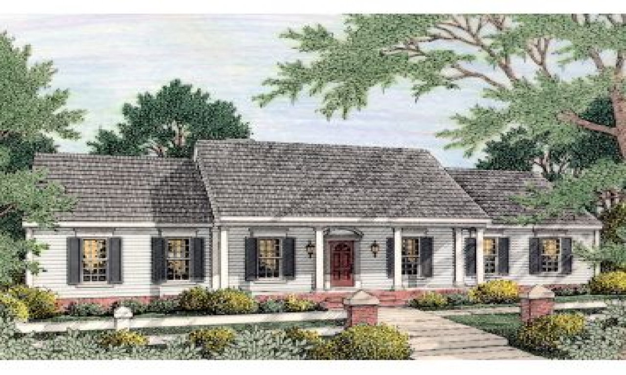 Historic colonial house floor plan colonial houses in the for Historic colonial house plans
