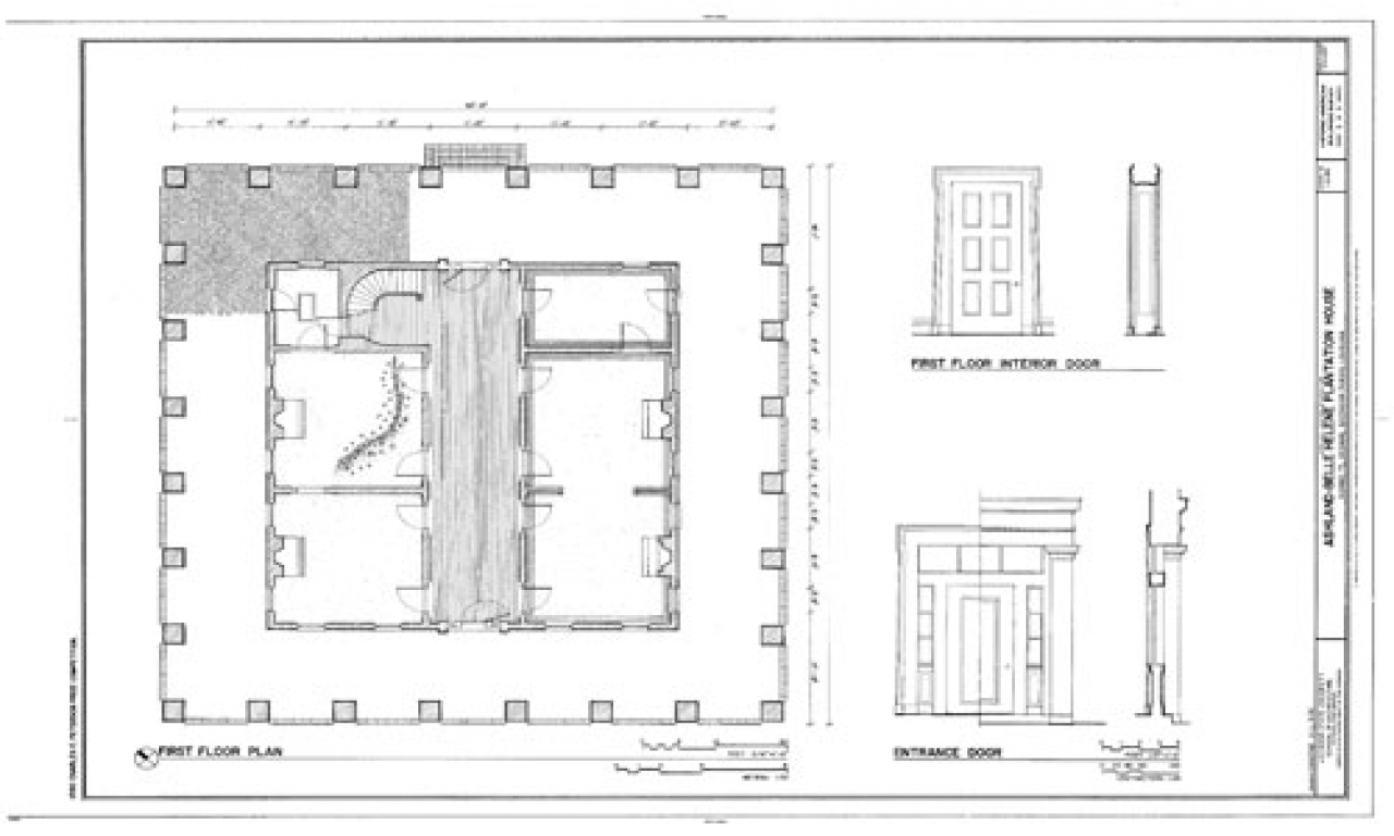 Oak Alley Plantation House Plans Magnolia Mound Plantation