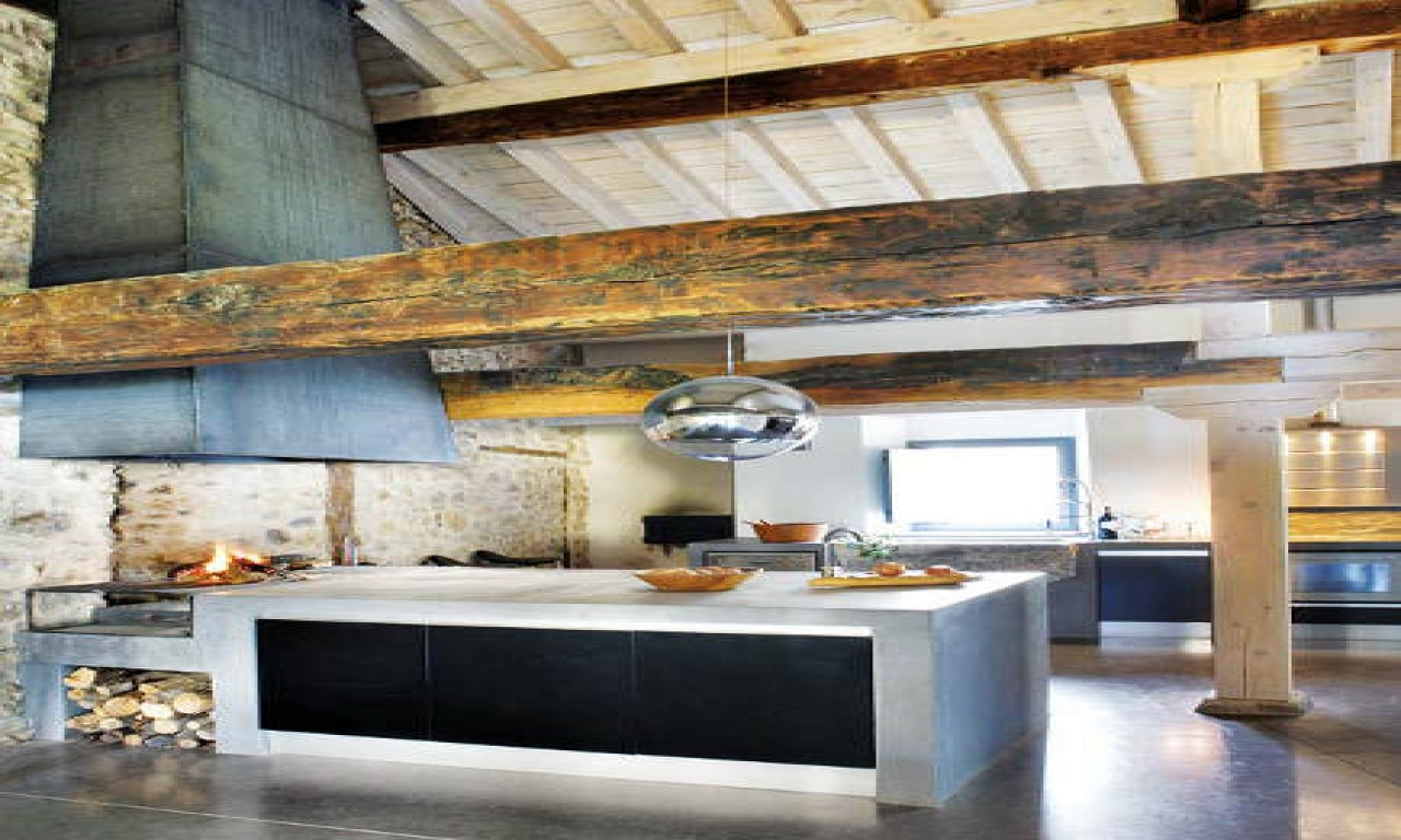 Rustic Farmhouse Kitchens Rustic And Modern Kitchen