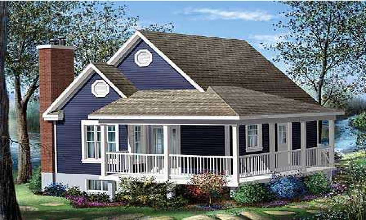 Cottage house plans with wrap around porch cottage house for Cabin house plans with porches