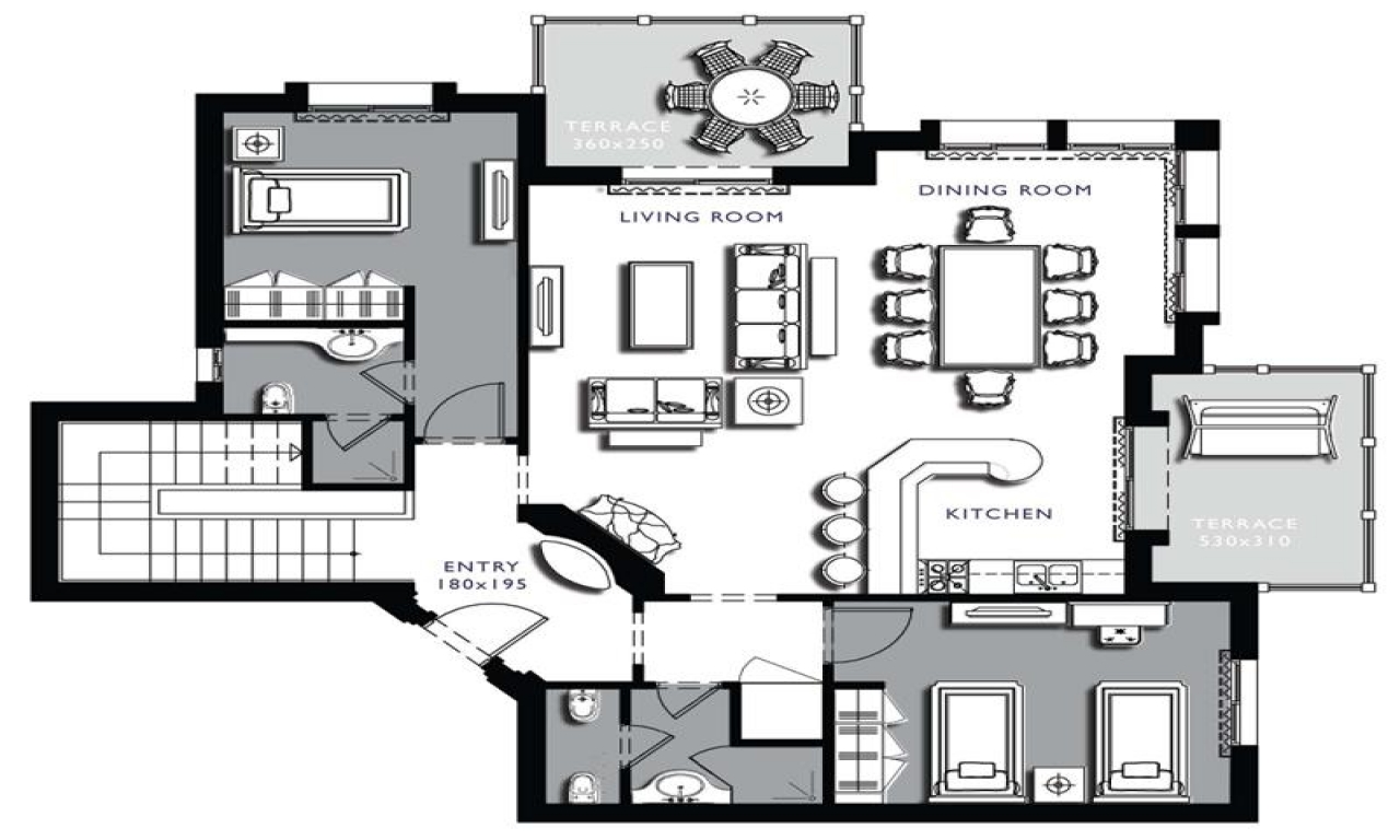 Floor plans architecture on floor with architecture lower Small condo plans