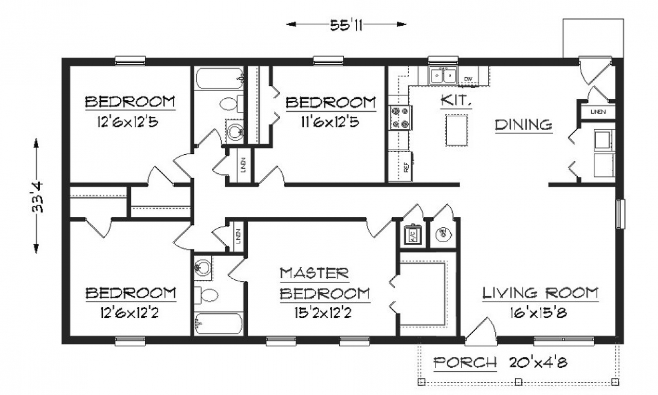 Simple small house floor plans simple small house floor for Free farmhouse plans
