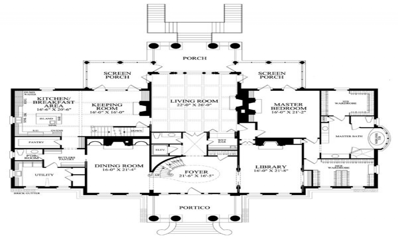 Southern colonial homes floor plans southern colonial for Historic southern house plans