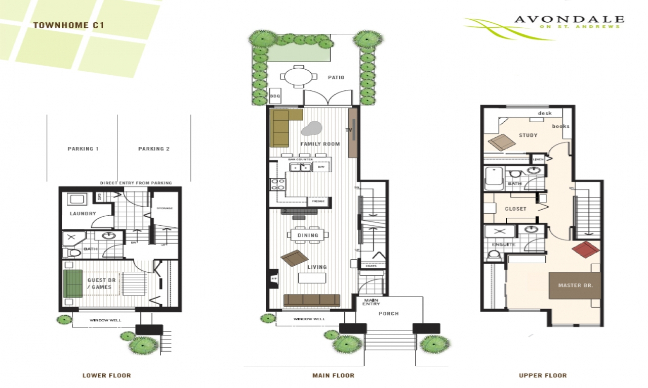 Modern townhouse floor plans 3 story townhouse floor plans for Urban townhouse floor plans