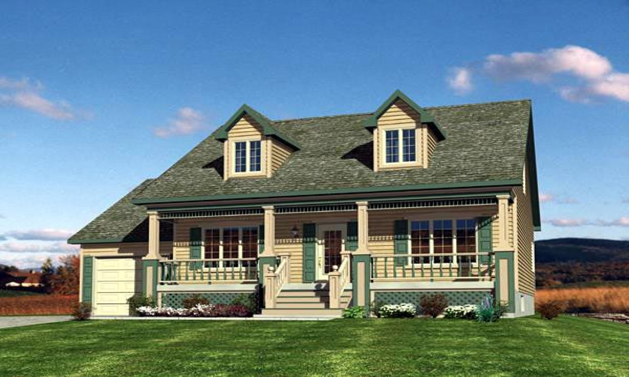 Cape cod house floor plans cape cod house plans with front for Cape cod house with porch