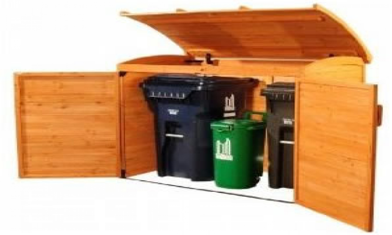 Garbage Can Storage Containers Outdoor Garbage Can Storage