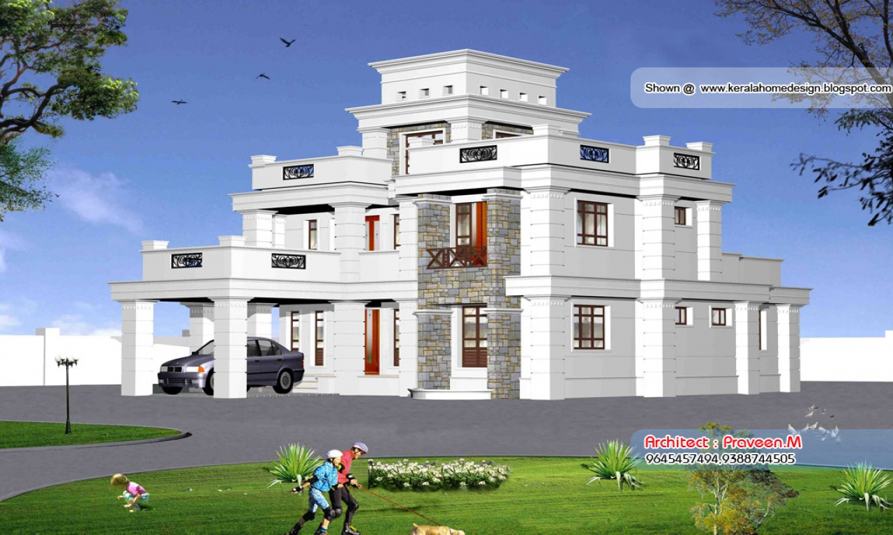 House Plan Elevation View : Beautiful house front elevation designs views of