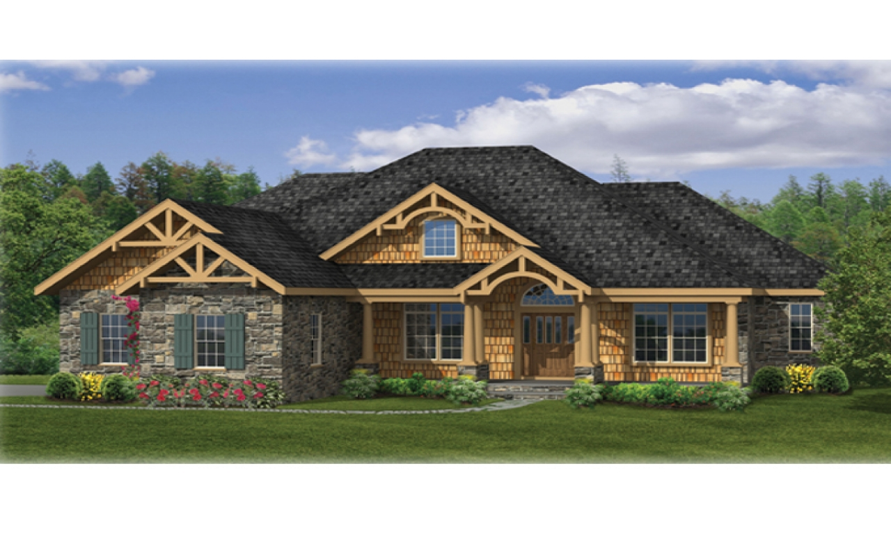 Craftsman ranch house plans craftsman house plans ranch for Ranch lake house plans