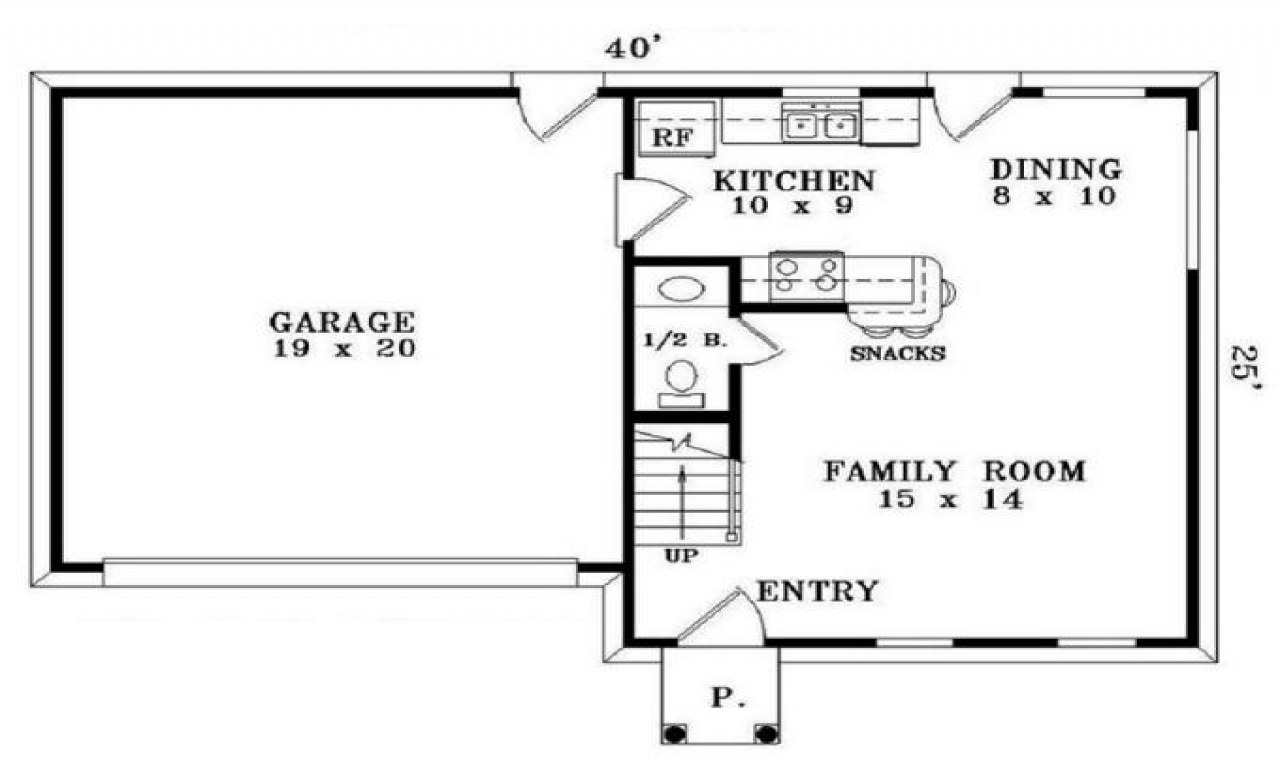 Simple small house floor plans 2 bedrooms simple small for Simple 2 bedroom house floor plans