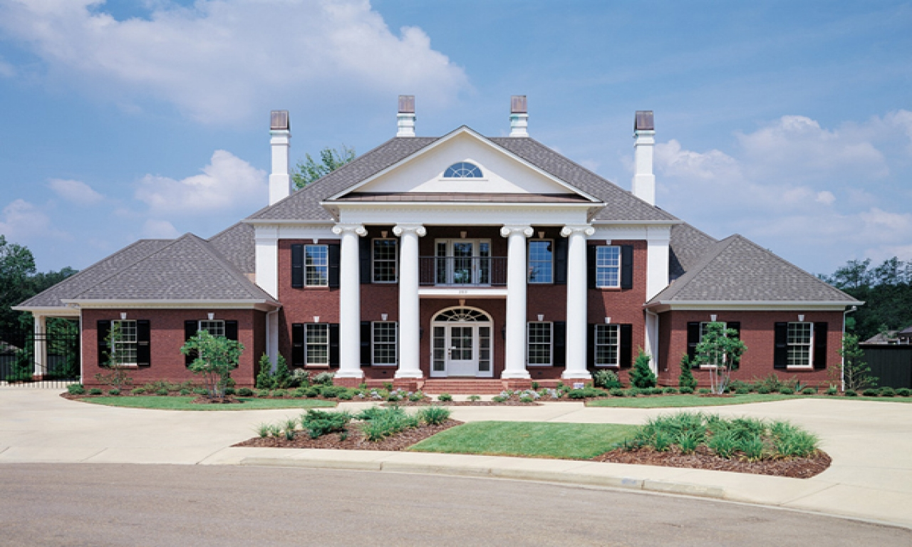 Federal style house southern colonial style house plans for Southern mansion house plans