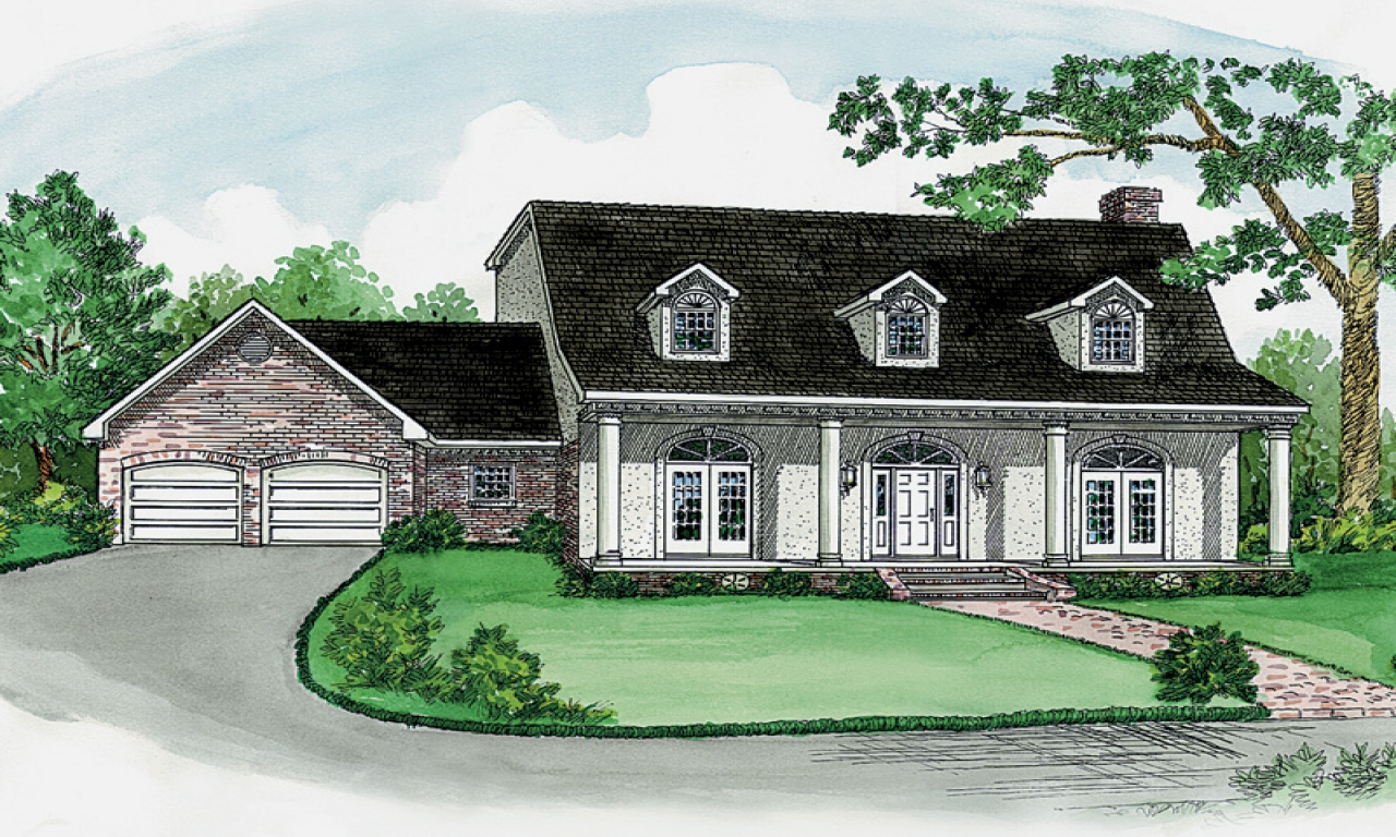 Small southern farm homes anthony farm southern home plan for Southern house plans
