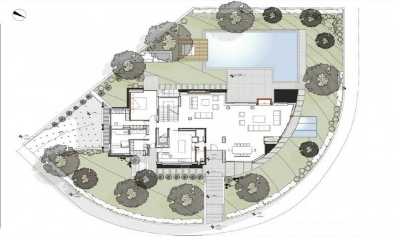 Italian villa floor plans modern villa floor plan design for Italian villa floor plans