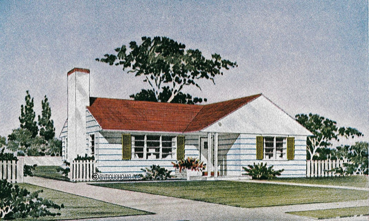 Red Brick Ranch House 1950 Ranch Style House Plans For
