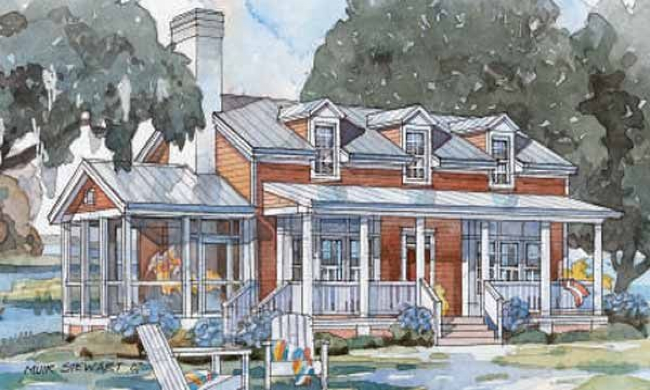 Stanley coastal cottage coastal living cottage house plans for Coastal living house plans