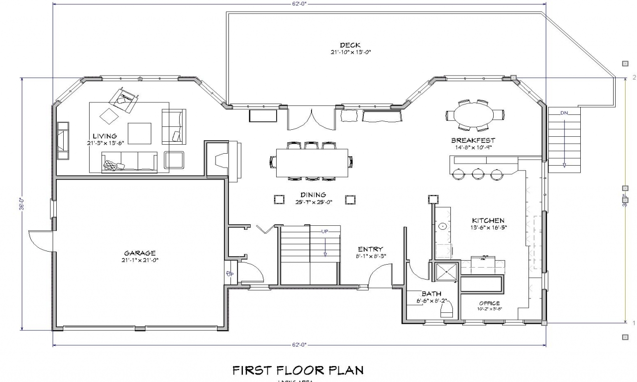 Beach House Open Floor Plan Beach House Floor Plan, House