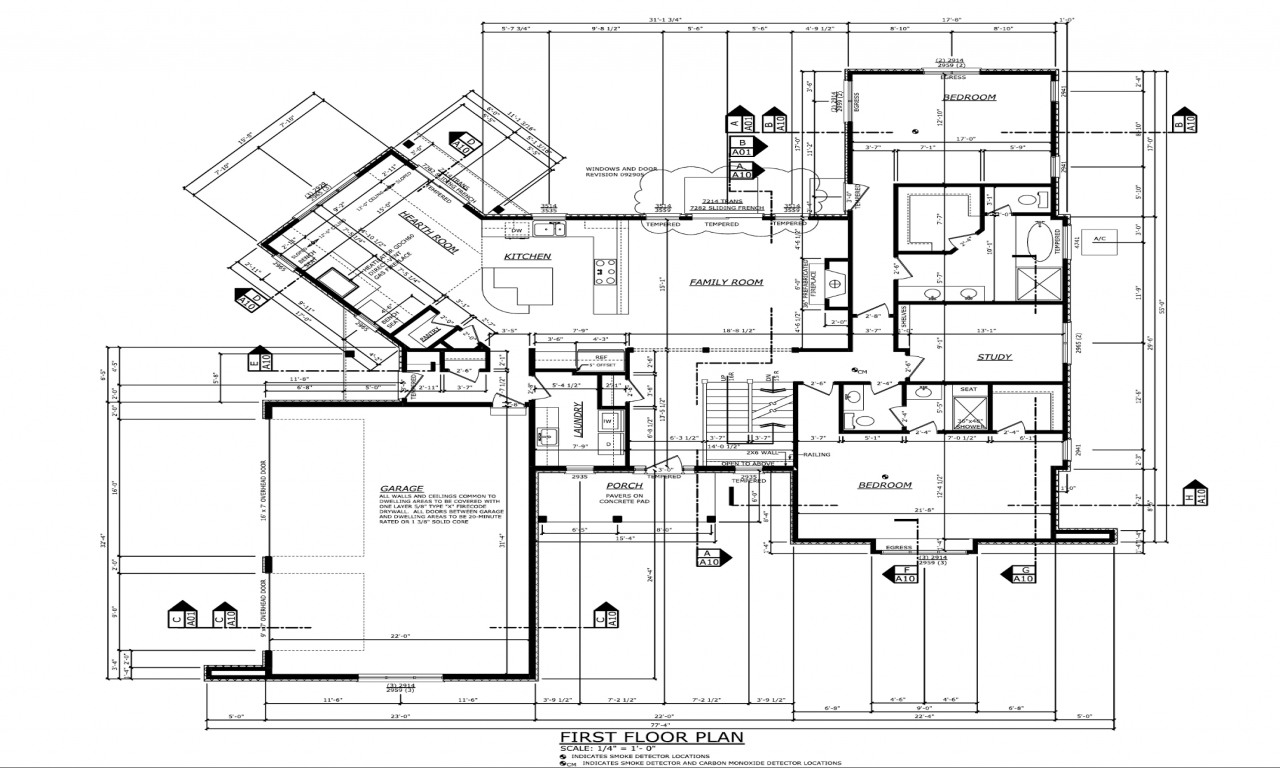 Residential house foundation blueprints residential house for Residential floor plans