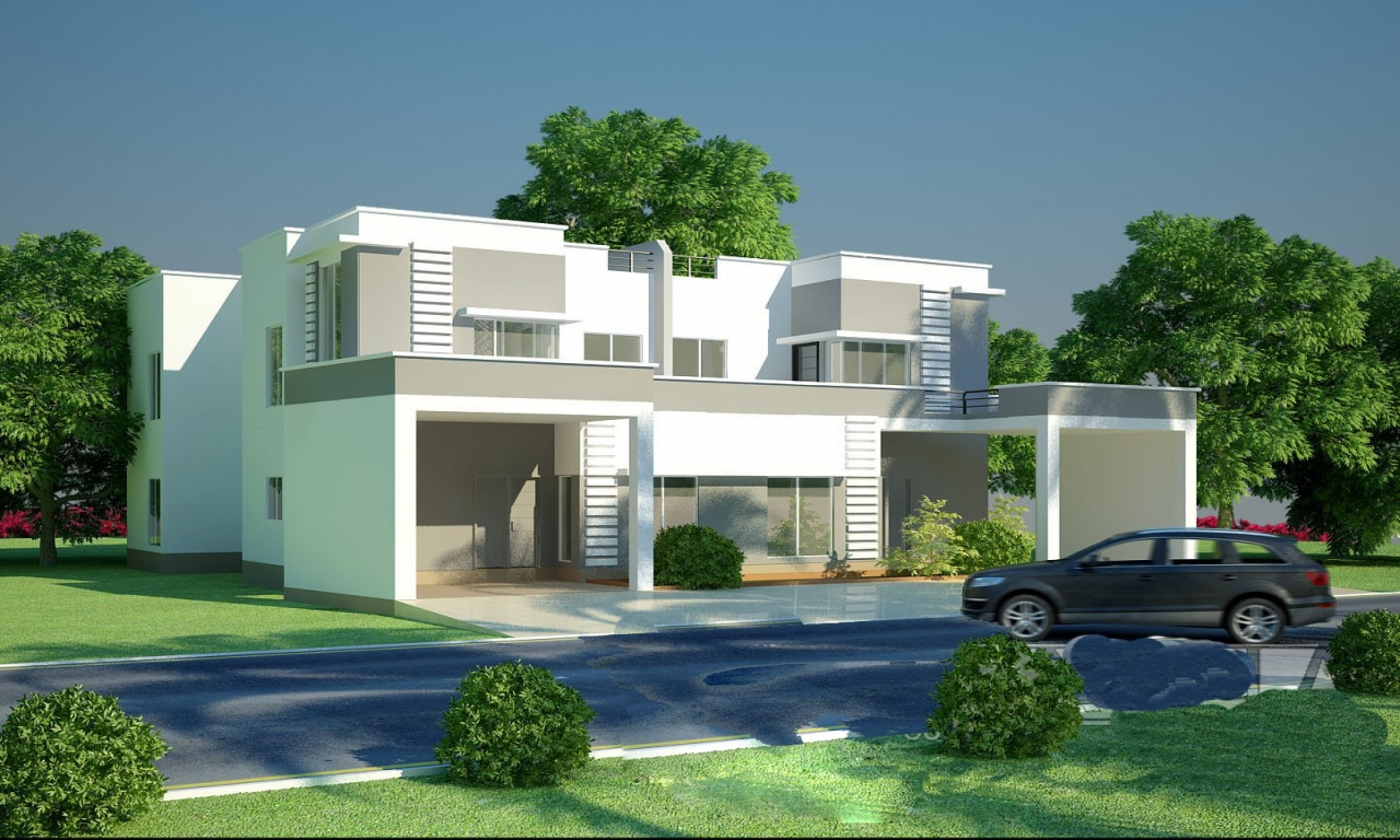 Beautiful latest modern home designs modern interiors for Attractive house designs