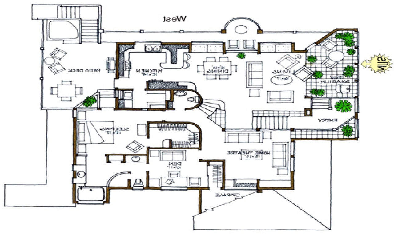 Rustic open floor house plans open floor plans ranch house for Open floor house plans
