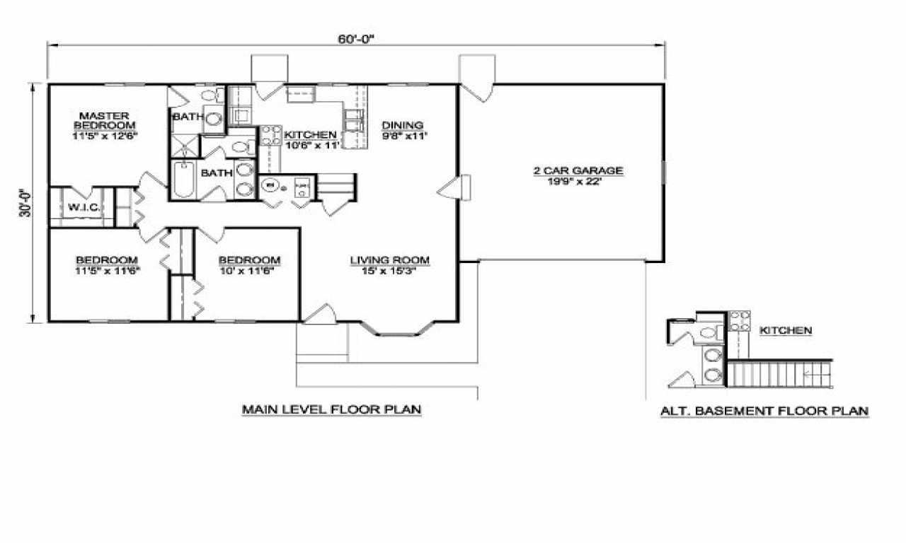 1200 square feet 3 bedroom house plans 1200 square feet for House plans under 1200 square feet