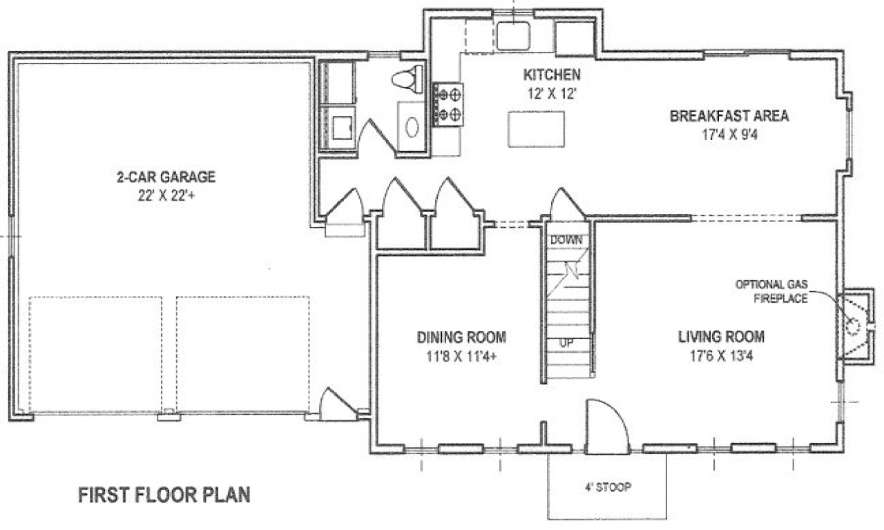House with attached garage plans house with detached for Detached garage floor plans