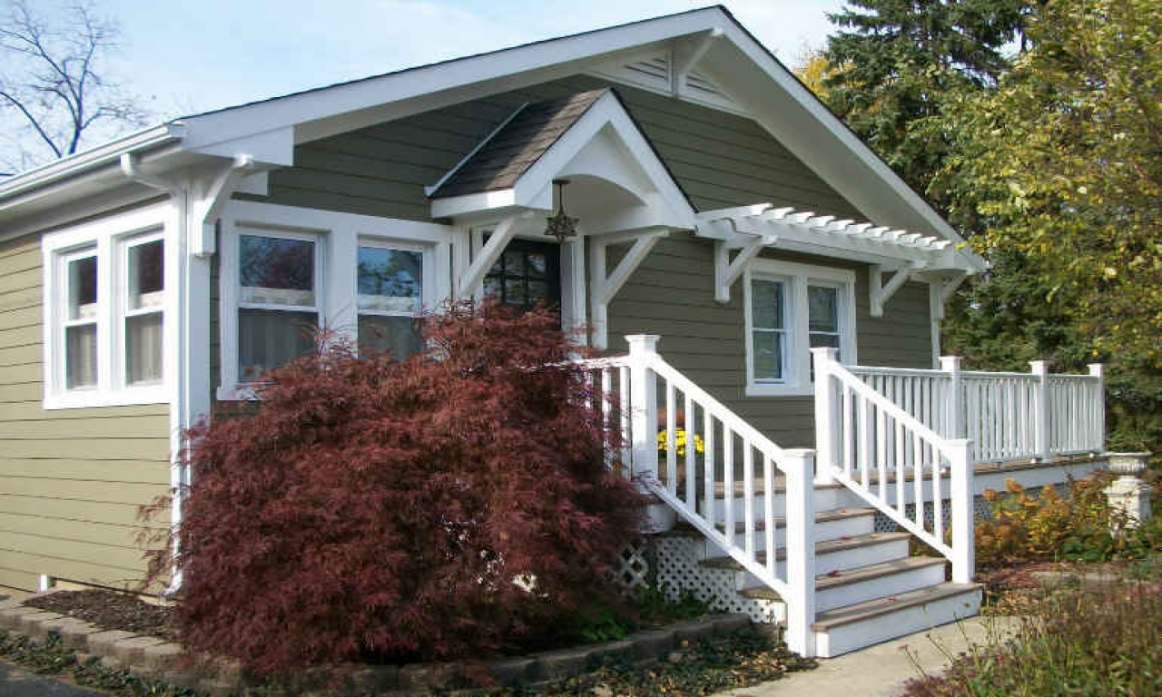 Craftsman Cottage Style House American Foursquare Style