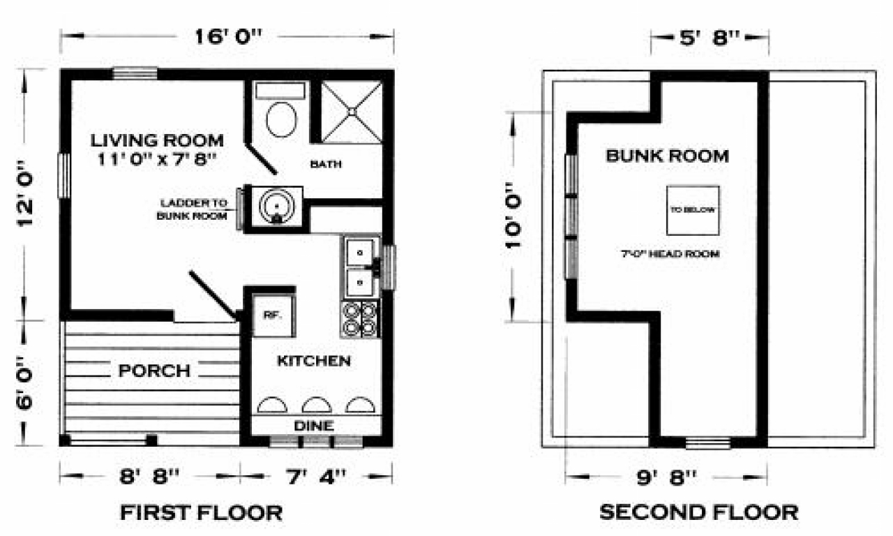 Tiny cabin house floor plans cabins tiny house floor plans for Small cabin building plans free