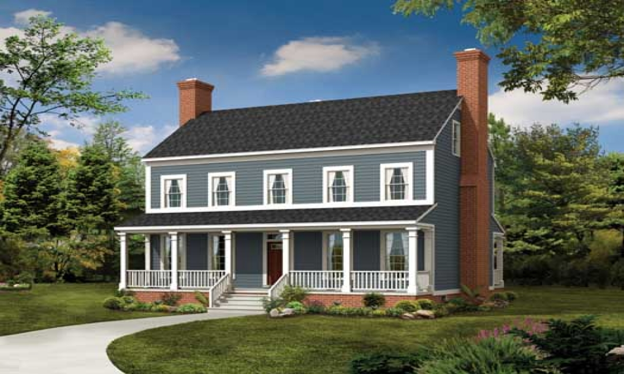 Colonial 3 story house plans 2 story colonial style house for Two story house styles