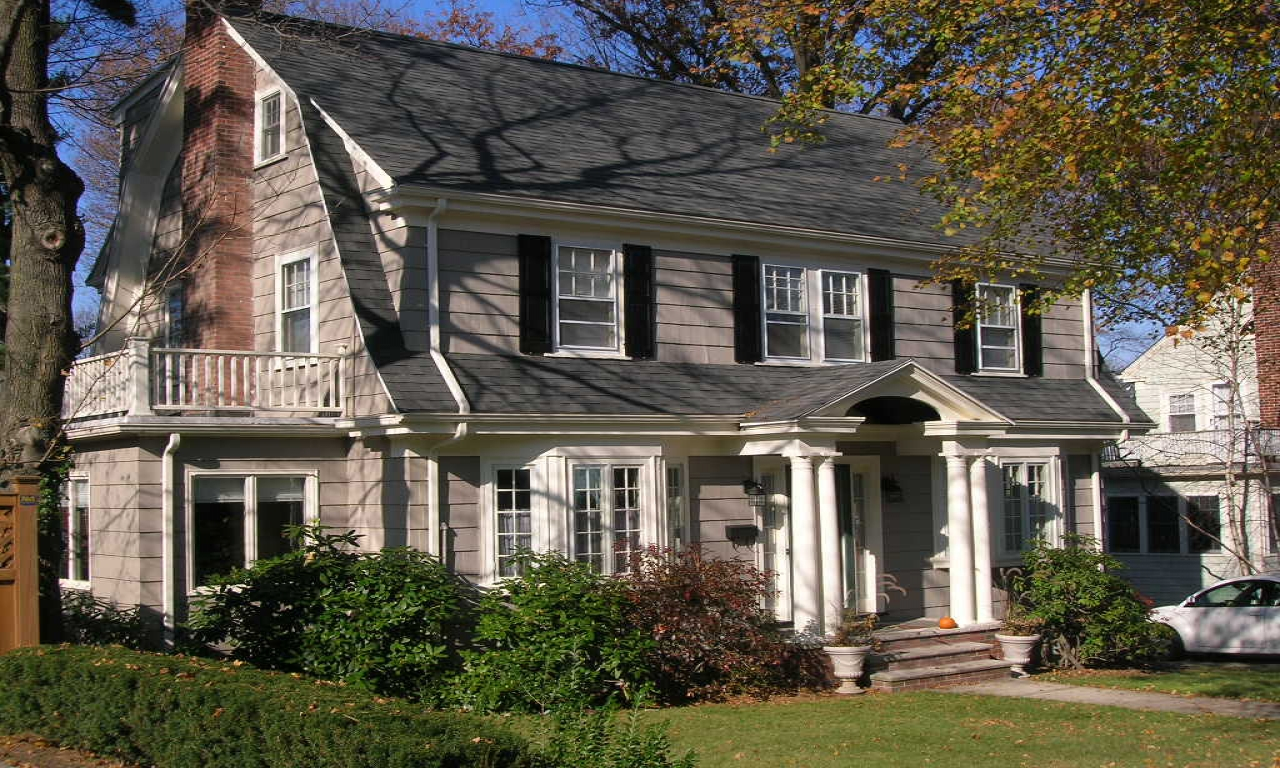 New england colonial homes dutch colonial home colonia for New england home builders
