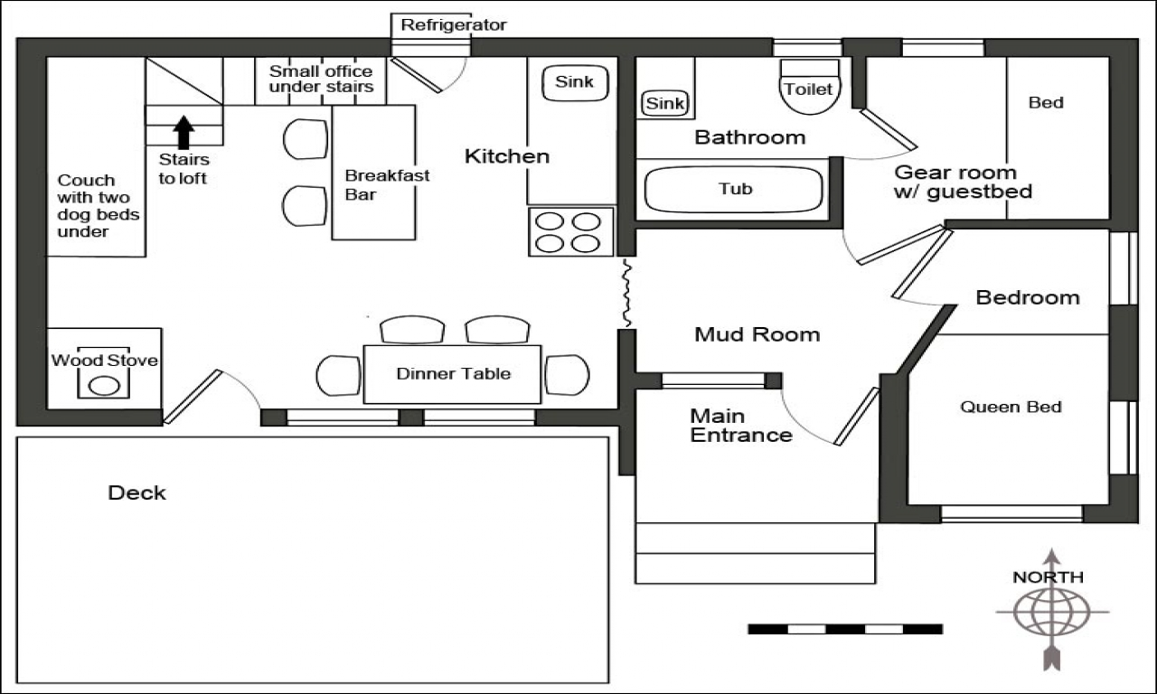 Small house plans under 1000 sq ft small country house for Beach house plans under 1000 sq ft