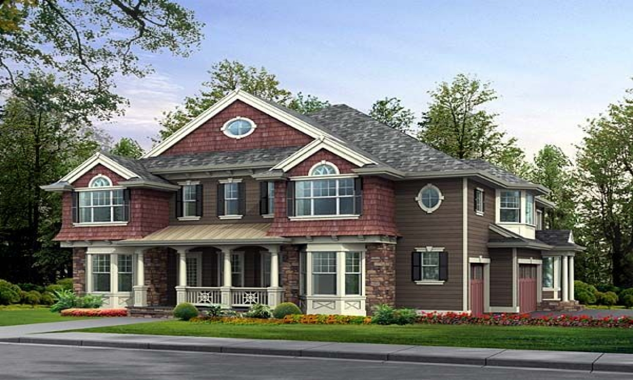 Craftsman house plans with basement craftsman house plans for Craftsman colonial style homes