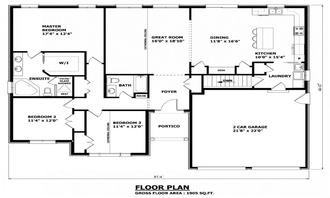 House floor plans with dimensions house floor plans with for Canadian cottage house plans