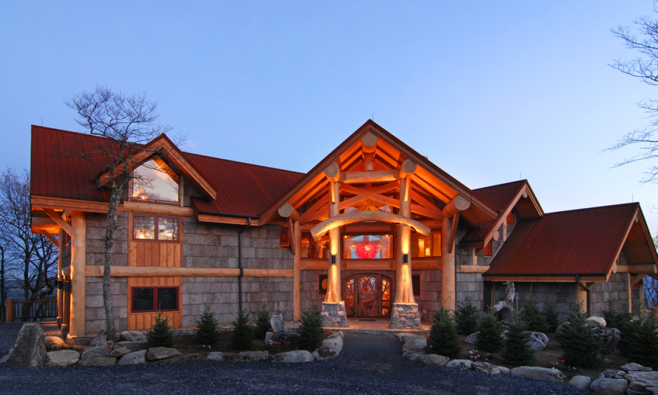 Custom log homes luxury log cabin homes mansions log for Luxury log cabin builders