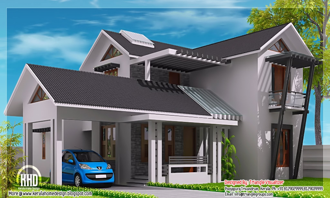 Flat Roof Design Ideas: Modern House Roof Designs Flat Roof Design, Sloping Roof