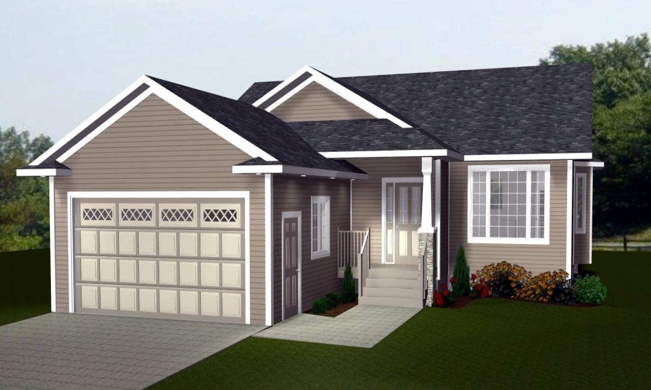 Bungalow house plans with attached garage bungalow house for Bungalow house plans alberta