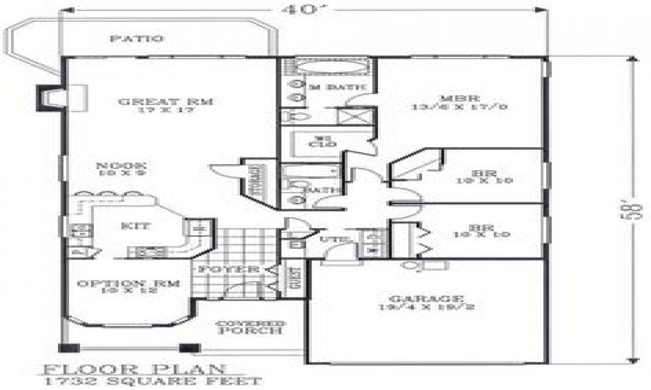 Craftsman open floor plans craftsman bungalow floor plans Ranch bungalow floor plans