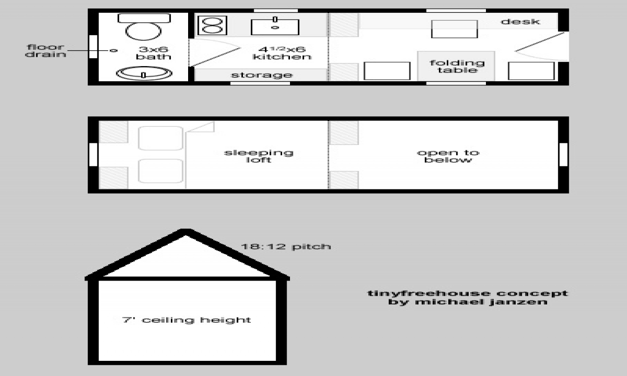 By Tiny House On Wheels Floor Plans on