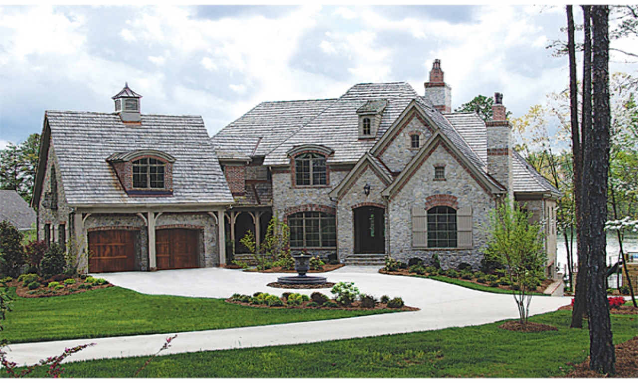 French country brick and stone homes french country for All brick
