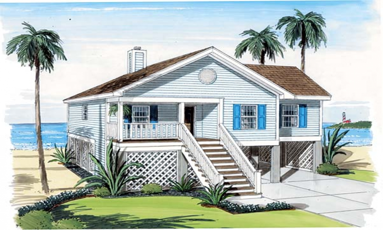 Small cottage house plans with porches beach cottage house for Coastal carolina home plans