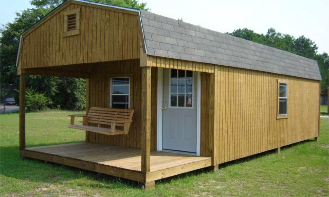 Building small cabins with lofts small pre built cabins for Easy to build cabins
