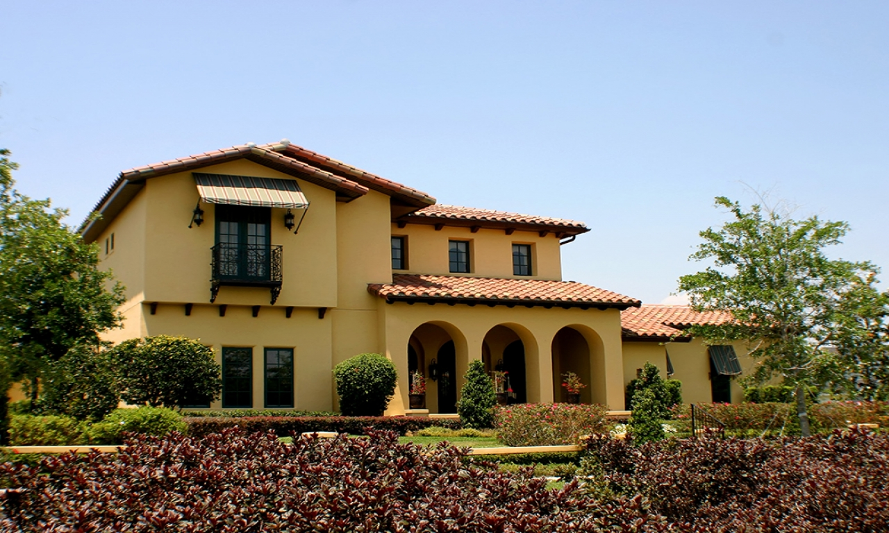 Spanish style home architecture tuscan style homes for Spanish mediterranean architecture