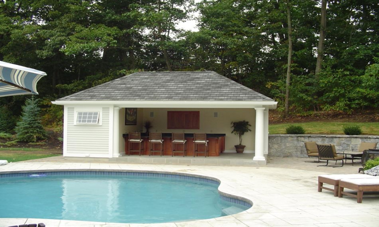 Backyard pool house designs outdoor pool house designs for Outdoor pool house