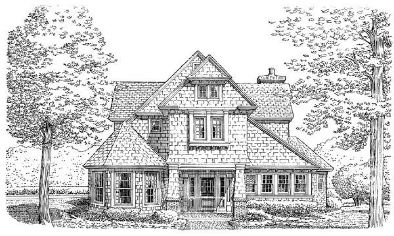 Tiny romantic cottage house plan victorian cottage house for Historic bungalow house plans