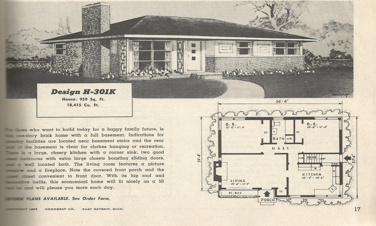 2 story 1950 house plans 1950s house plans vintage home for 2 story ranch house plans
