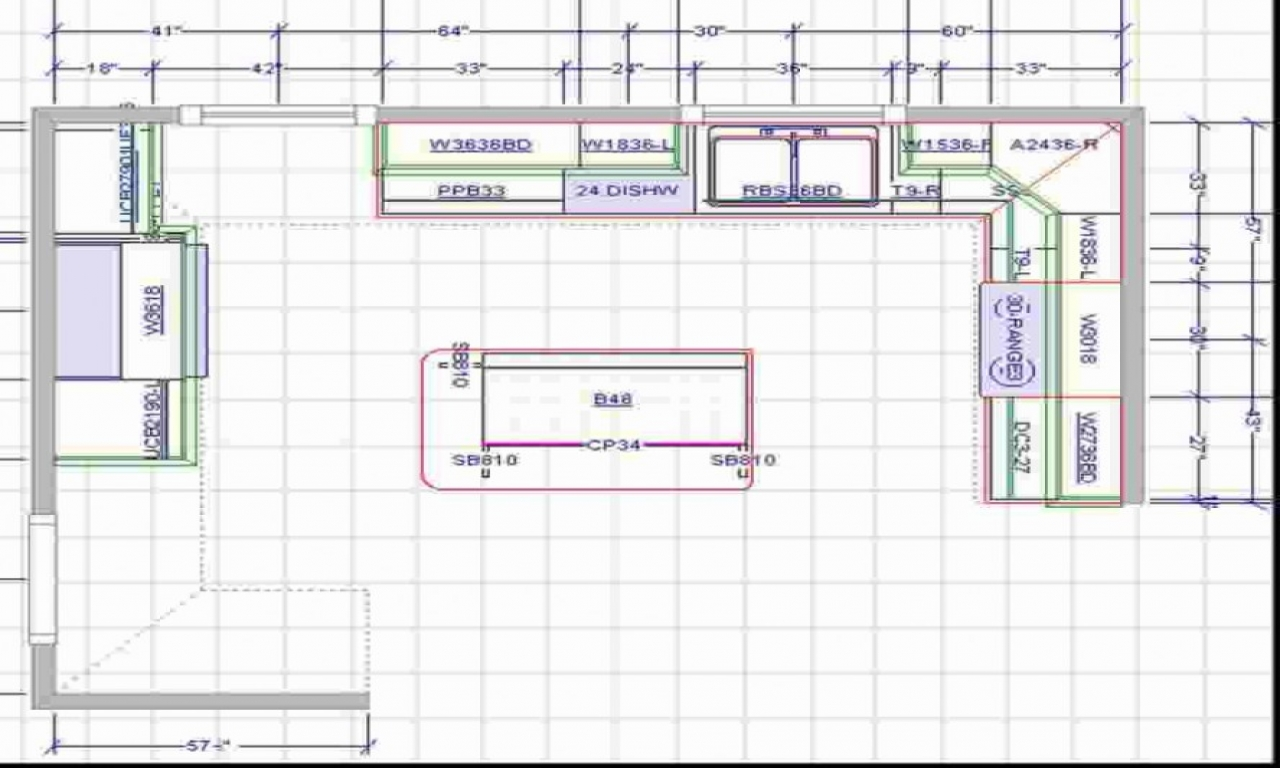 Large kitchen with islands floor plans l shaped kitchen - Upload floor plan and design free ...